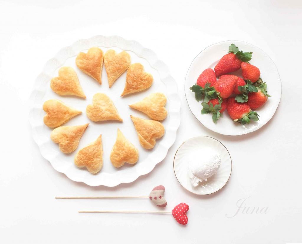 Fresas-nata-corazones
