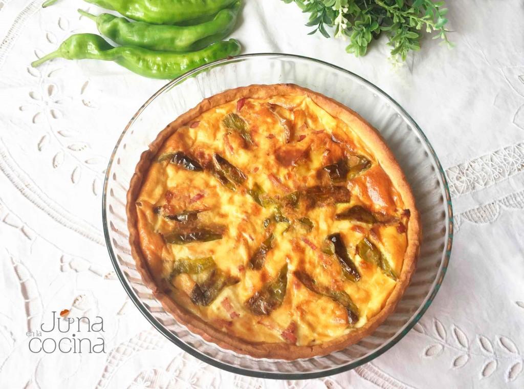 quiche-pimientos-beicon-y-queso|junaenlacocina.com