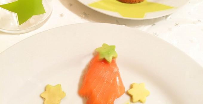 Arboles de salmón entrante navidad