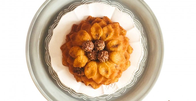 Bizcocho con bombones Ferrero