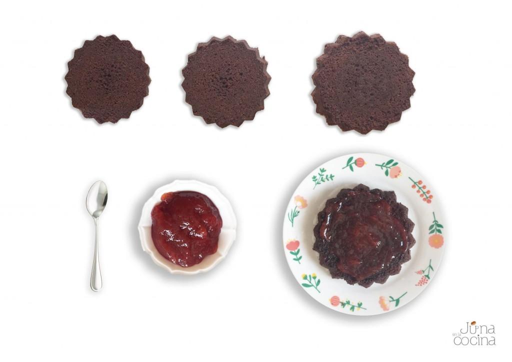 Bizcocho-de-chocolate-relleno-de-mermelada-pasos