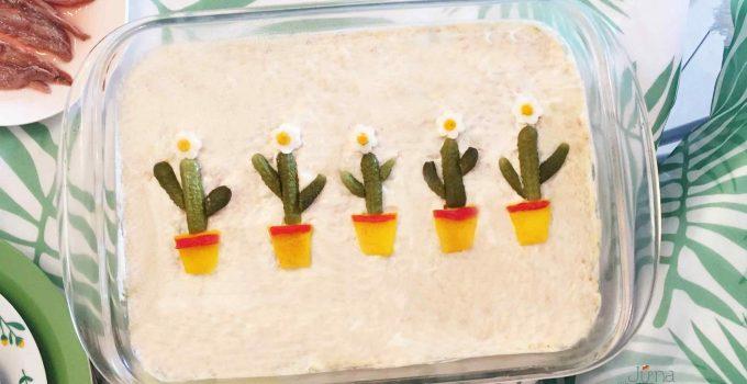 Ensaladilla rusa con cactus