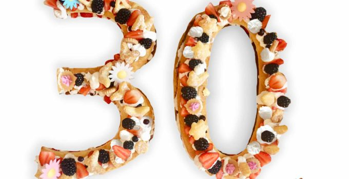 Números tarta 30 cumpleaños