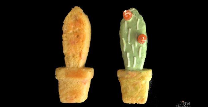 Cactus pastelitos de salmón