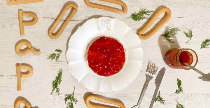 Cheesecake salado con rosquillas