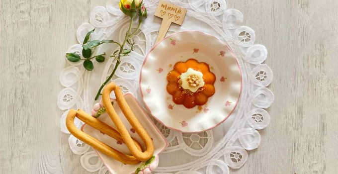 Flan de gazpacho con rosquillas