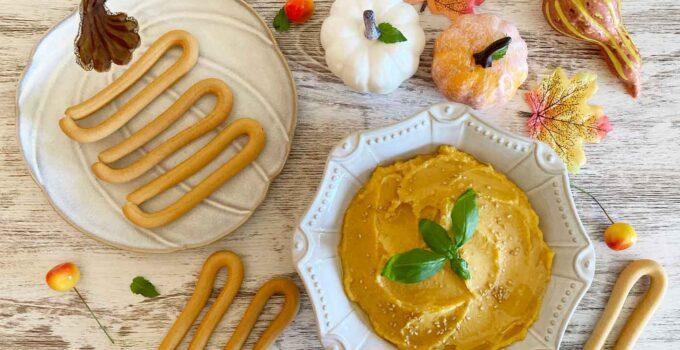 Hummus de calabaza con rosquillas